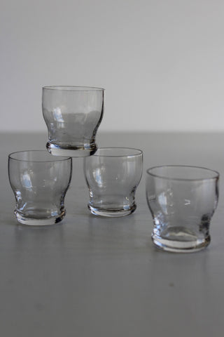 4 Tiny Vintage Glasses - Kernow Furniture