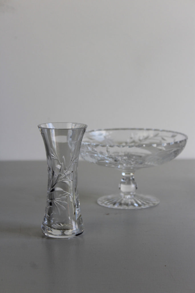 Stuart Crystal Bowl & Edinburgh Vase - Kernow Furniture