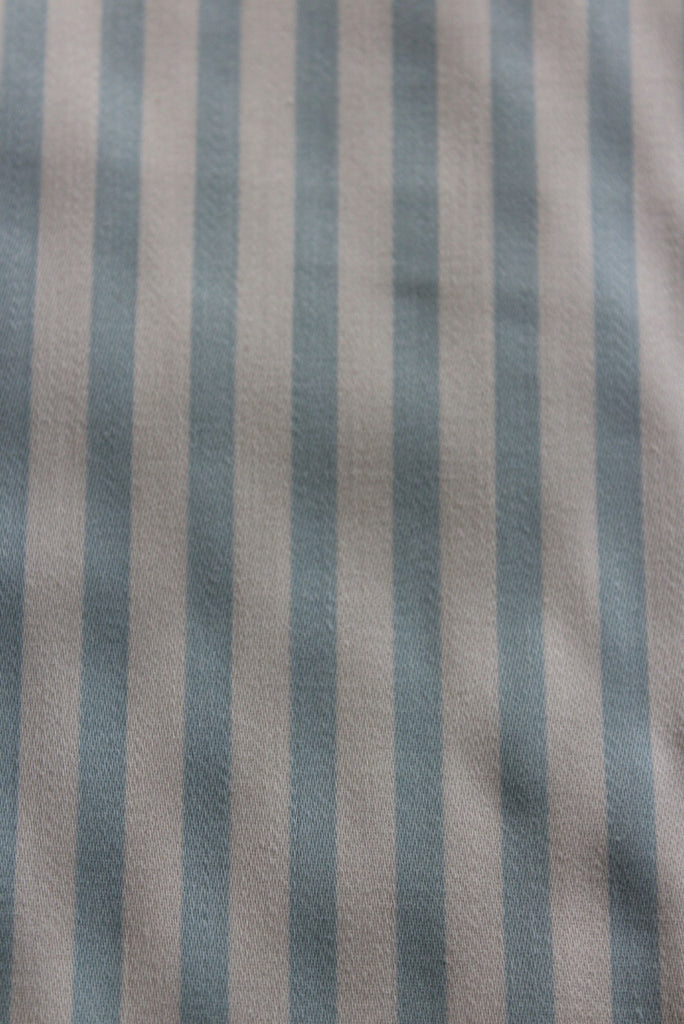 Vintage Laura Ashley Blue & White Stripe Fabric - Kernow Furniture