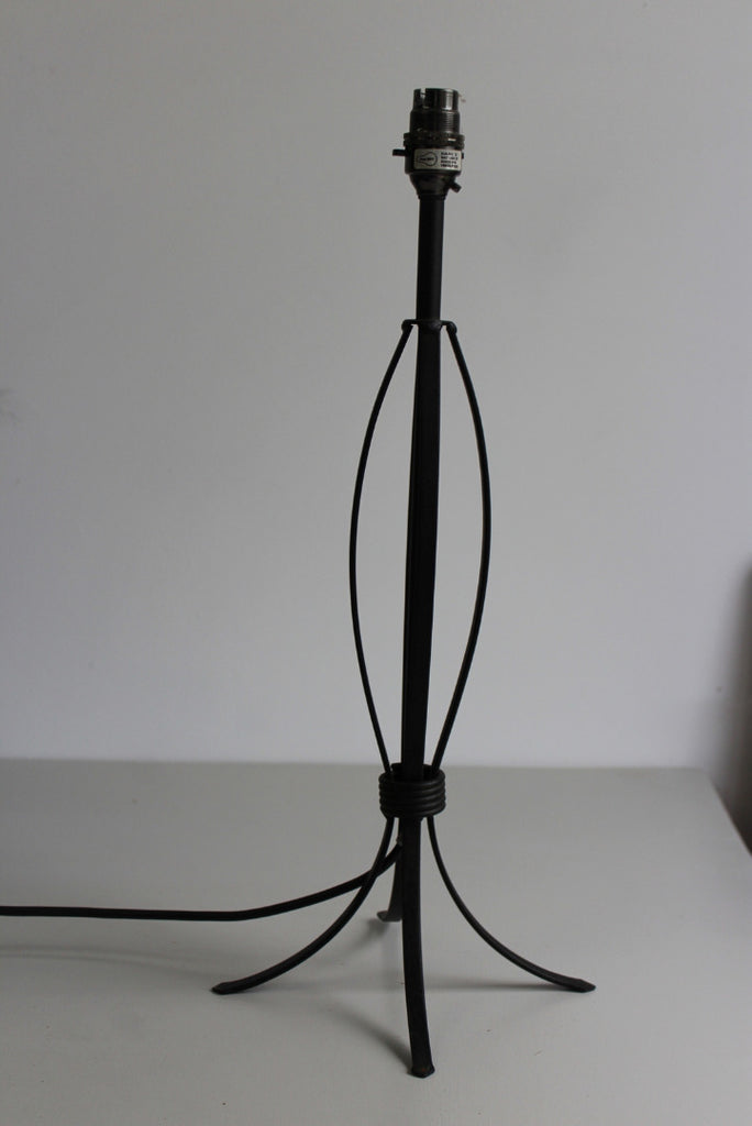 Modern Black Metal Table Bedside Lamp - Kernow Furniture