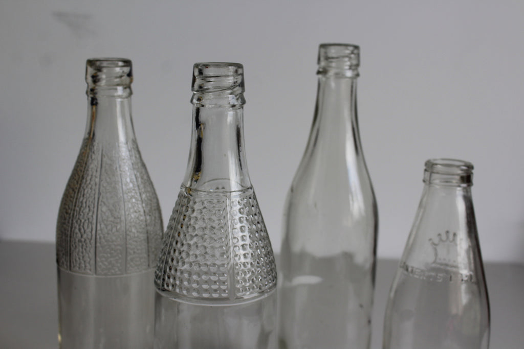 Collection Vintage Glass Bottles - Kernow Furniture