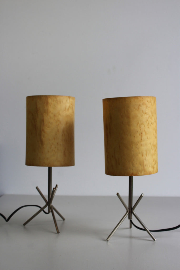 Pair Contemporary Table Lamps - Kernow Furniture