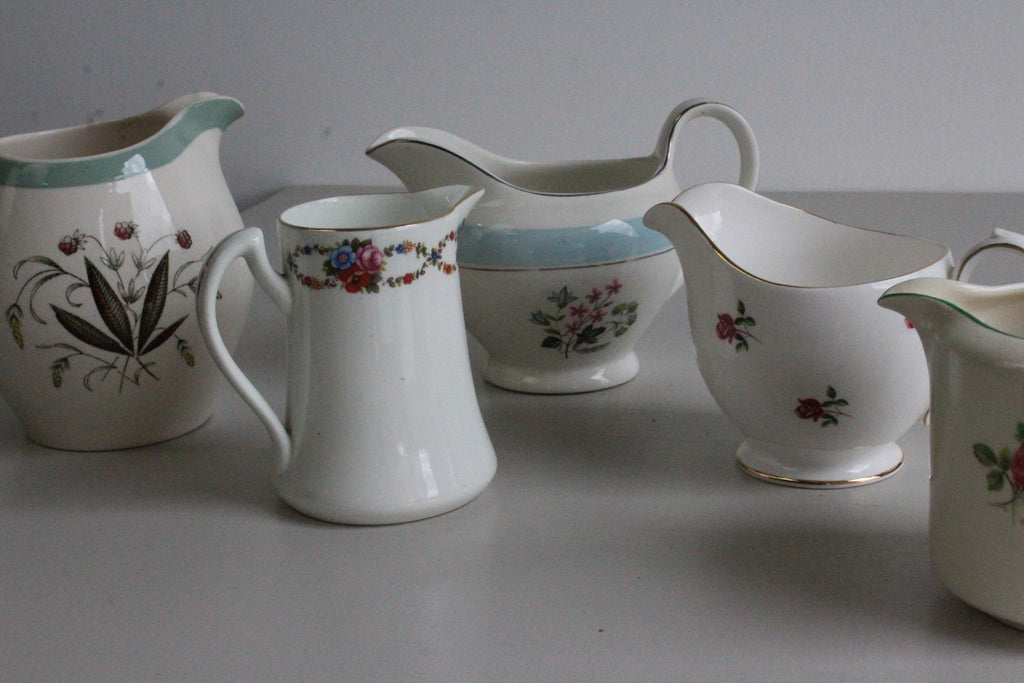 Collection Vintage China Jugs Milk Creamers - Kernow Furniture