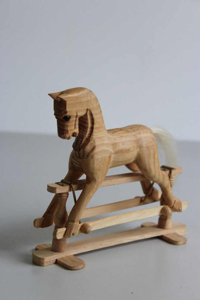 Decorative Small Wooden Rocking Horse - Kernow Furniture