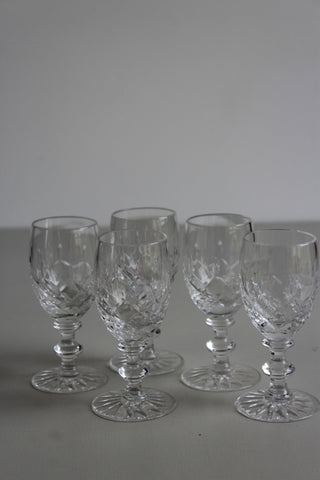 5 Vintage Liquer Port Sherry Glasses - Kernow Furniture