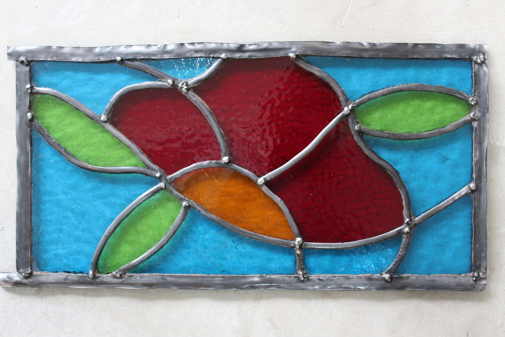 Three Hand Made Stained Glass Panels - Kernow Furniture