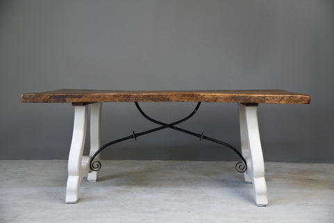 Rustic Spanish Farmhouse Kitchen Table - Kernow Furniture