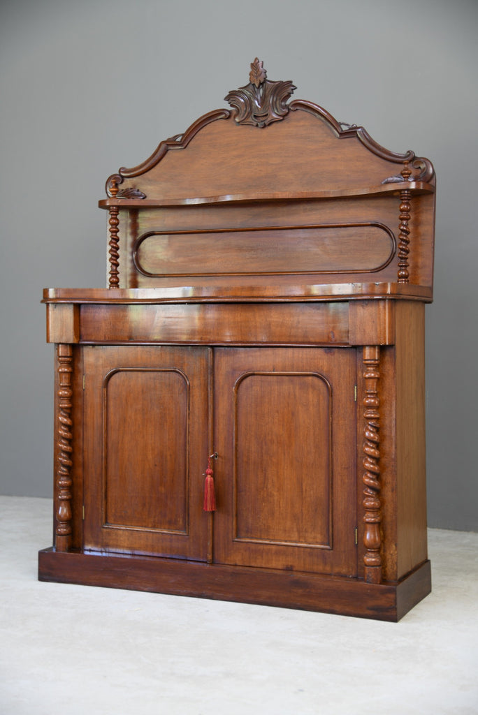 Antique Victorian Mahogany Chiffonier - Kernow Furniture