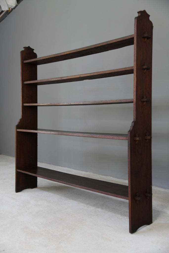 Pegged Mahogany Bookcase - Kernow Furniture