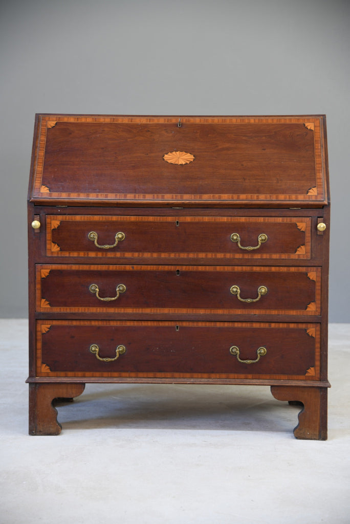Georgian Style Mahogany Bureau - Kernow Furniture