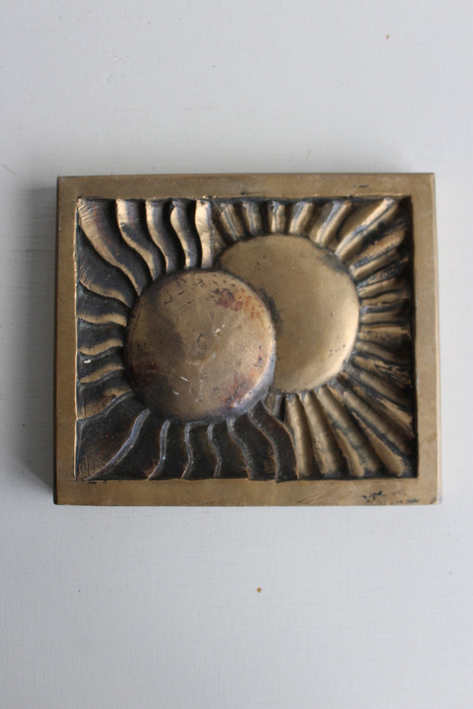 Contemporary Bronze Sun Plaque - Kernow Furniture