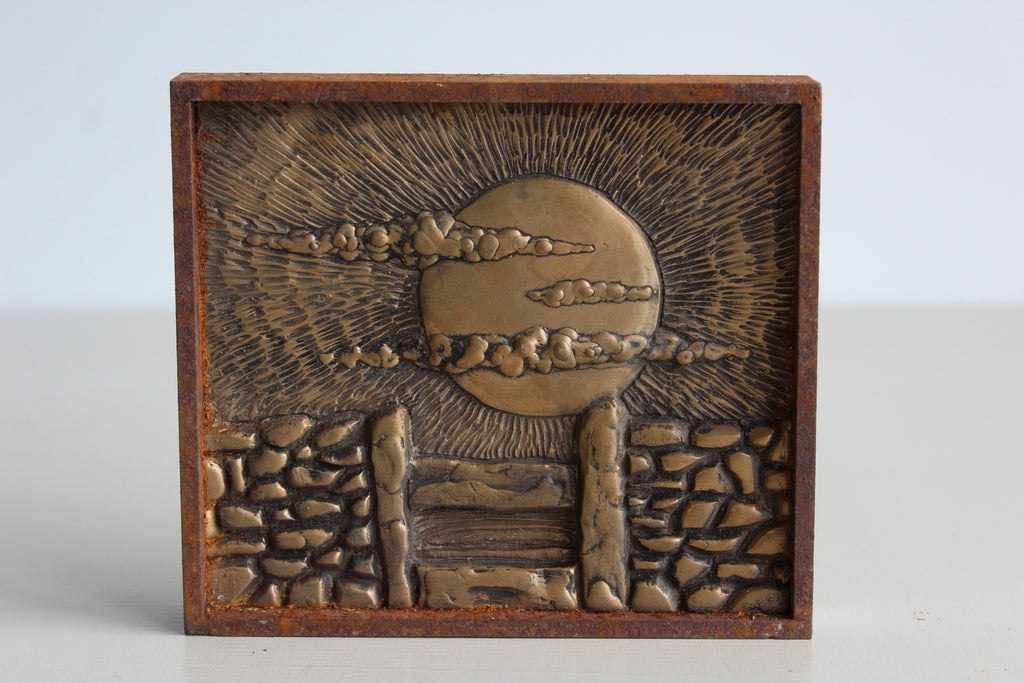 Small Bronze Landscape - Cornish Hedge - Kernow Furniture