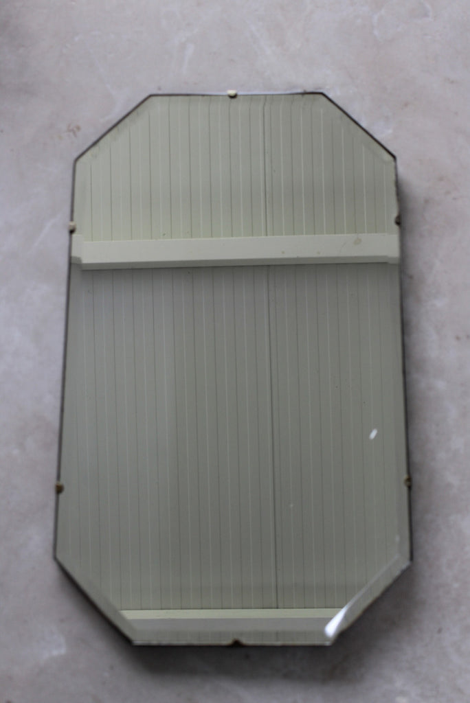 Vintage Frameless Bevel Edge Mirror - Kernow Furniture