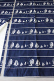 Pair Quality Nautical Blue Curtains - Kernow Furniture