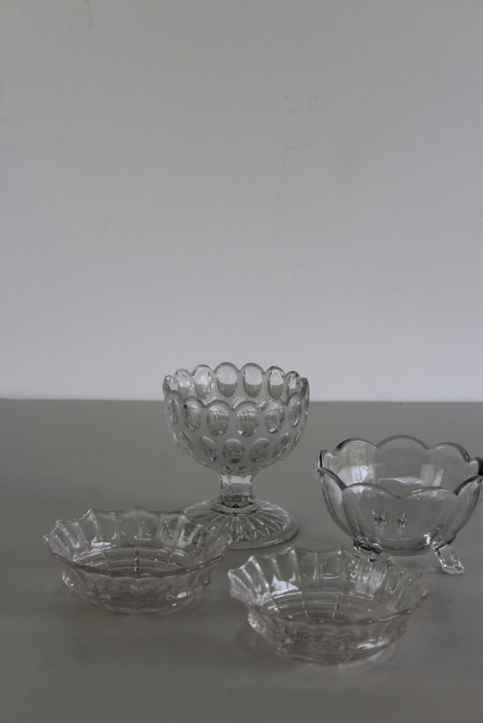 Collection Vintage Glass Bowls - Kernow Furniture