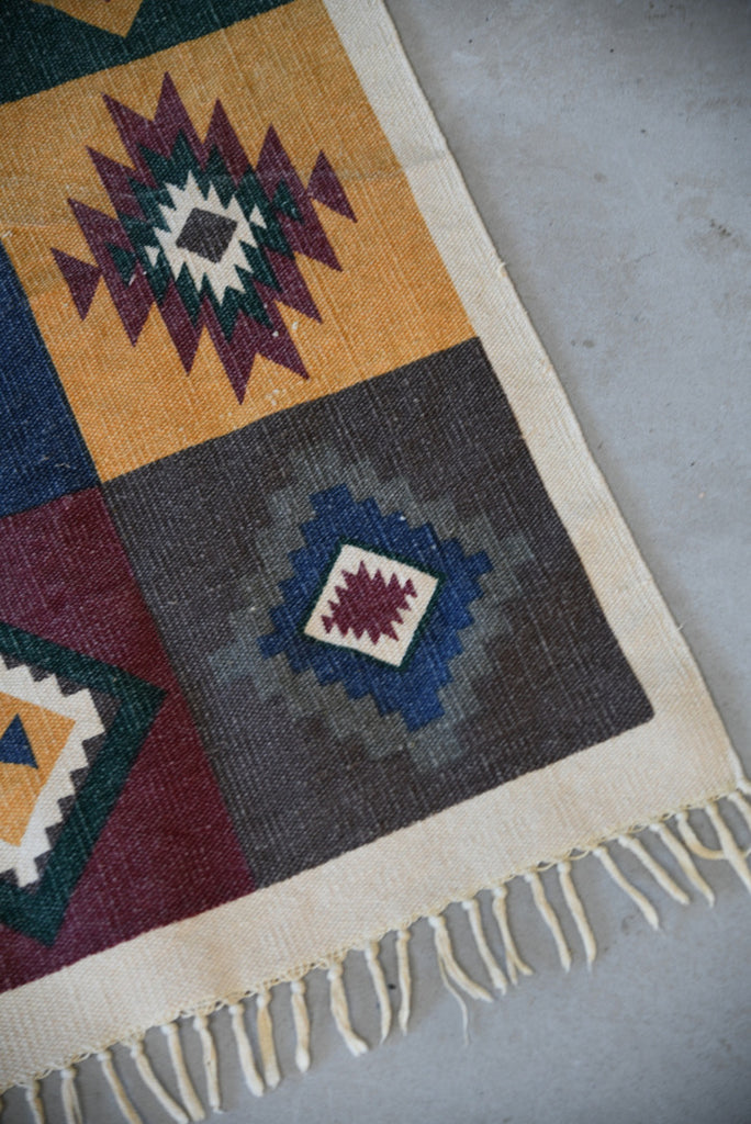 Indian Geometric Cotton Mat - Kernow Furniture