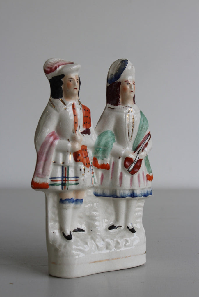 Staffordshire Figure - Scottish Dancers - Kernow Furniture
