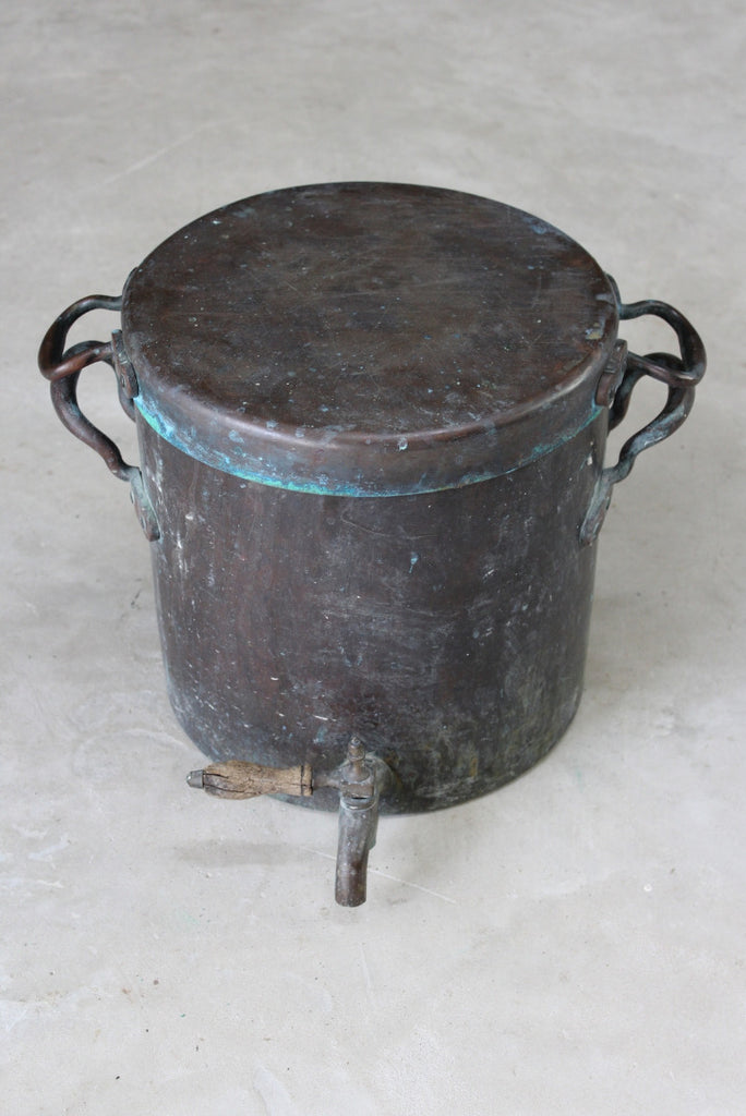 Antique Copper Hot Water Urn - Kernow Furniture