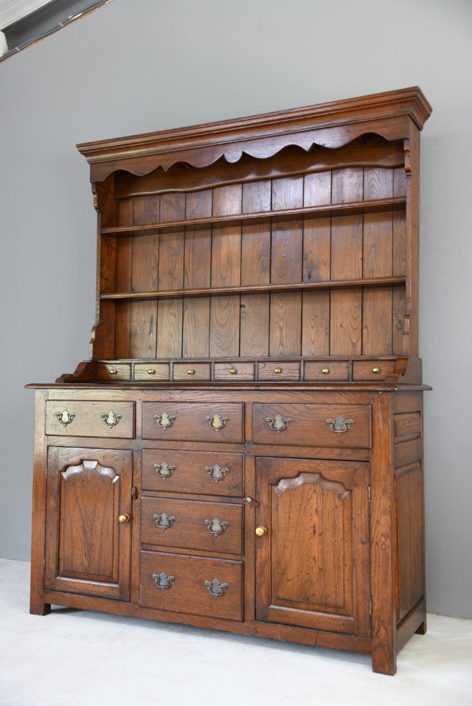 Georgian Style Oak Kitchen Dresser - Kernow Furniture
