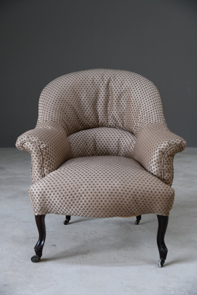 Antique French Upholstered Armchair - Kernow Furniture