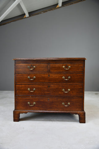 Antique Georgian Oak Chest of Drawers - Kernow Furniture