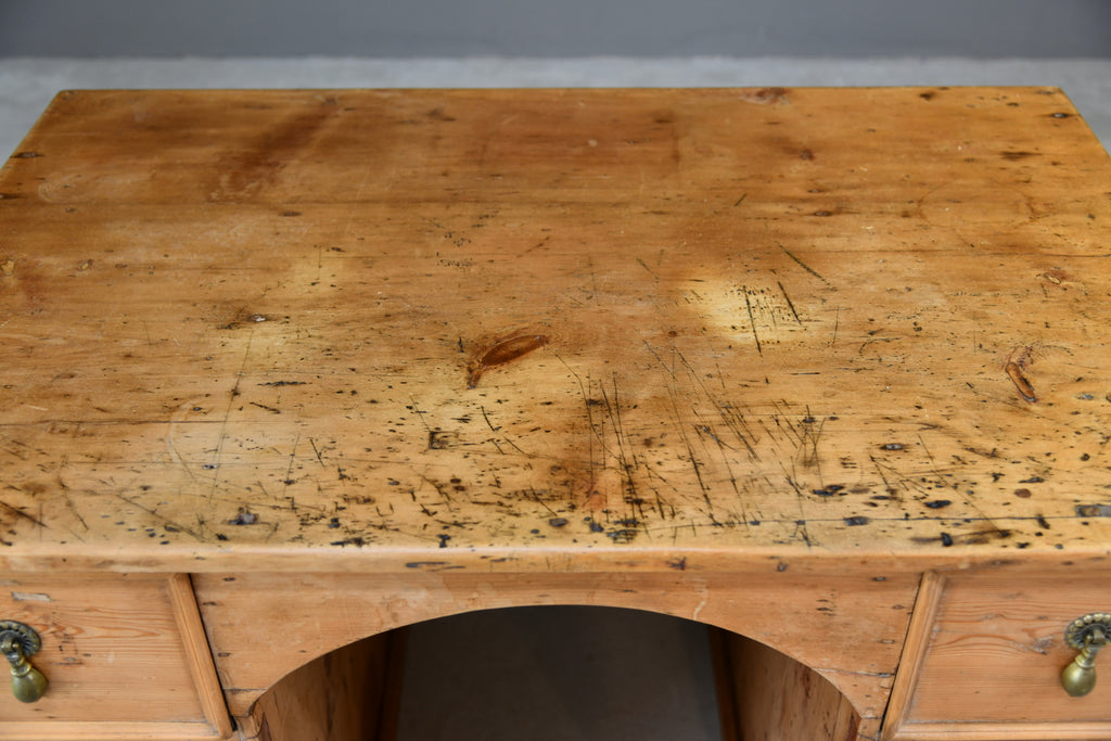 Rustic Pine Desk - Kernow Furniture