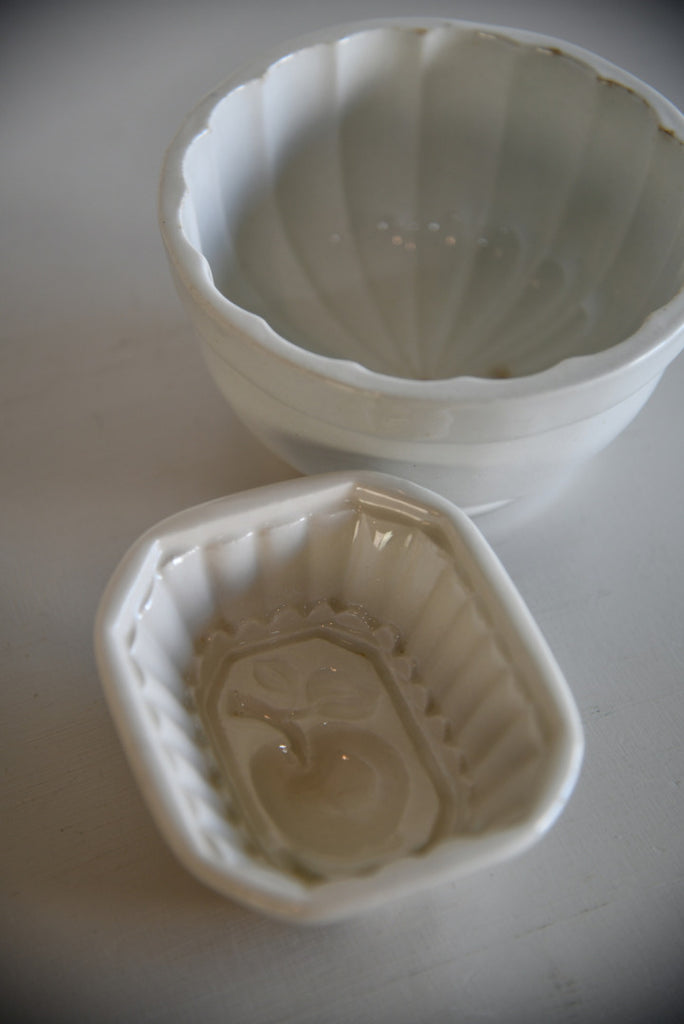 Vintage White Jelly Moulds - Kernow Furniture