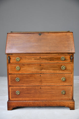 Edwardian Mahogany Writing Bureau - Kernow Furniture