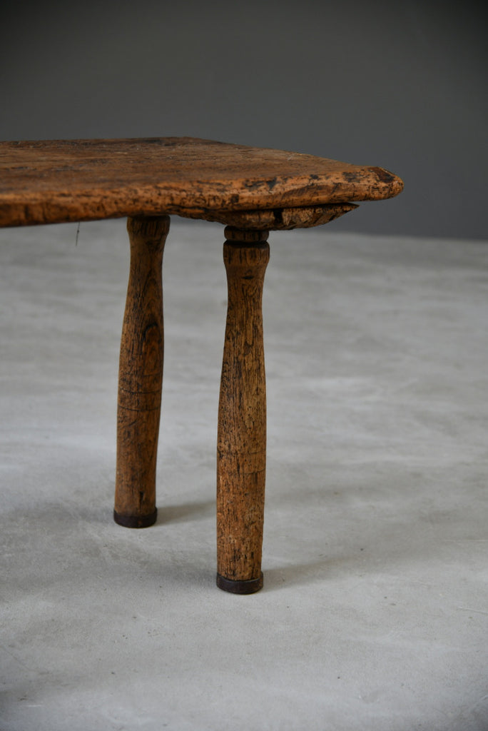 Antique Vernacular Primitive Pig Bench Table - Kernow Furniture
