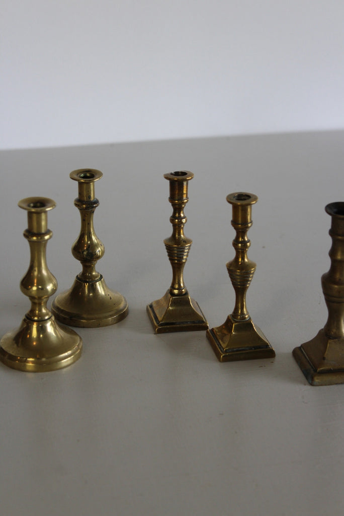 Miniature Brass Candlesticks - Kernow Furniture