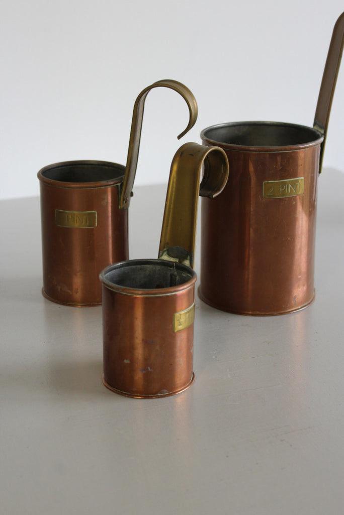 Decorative Vintage Copper Pint Measures Ladles - Kernow Furniture