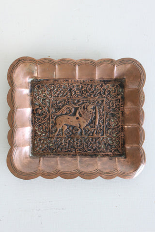Indian Pressed Copper Tray - Kernow Furniture