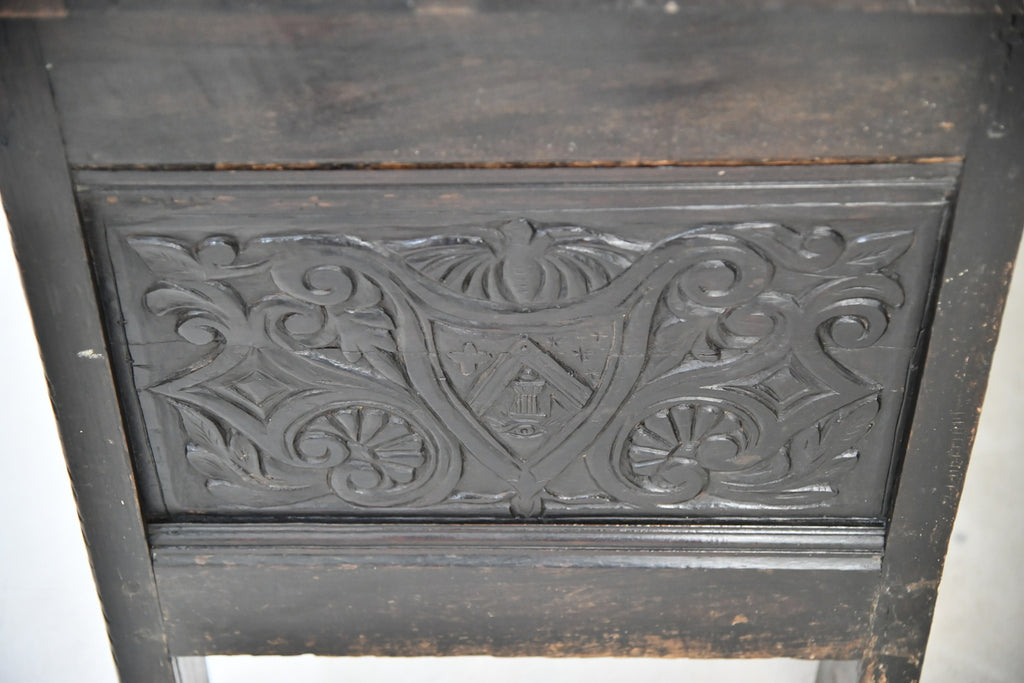 Antique 18th Century Carved Oak Coffer - Kernow Furniture