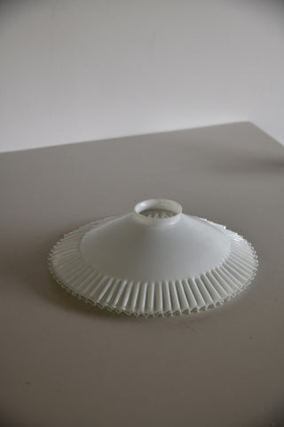 White Glass Frilly Light Shade - Kernow Furniture
