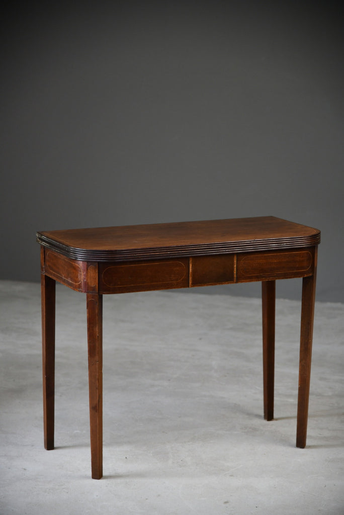 Antique Mahogany Tea Side Table - Kernow Furniture
