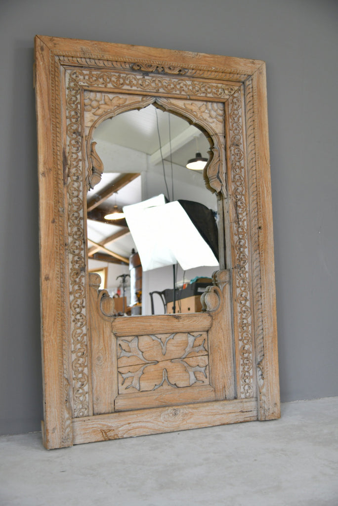 Carved Indian Wooden Mirror - Kernow Furniture