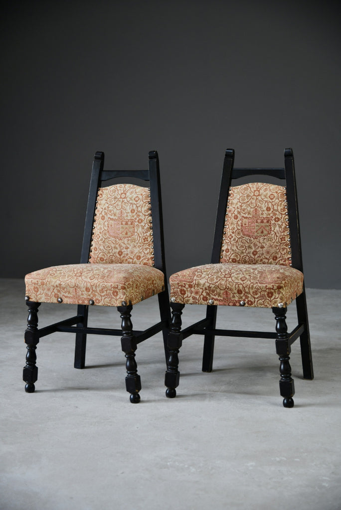 Pair Upholstered Dining Chairs - Kernow Furniture