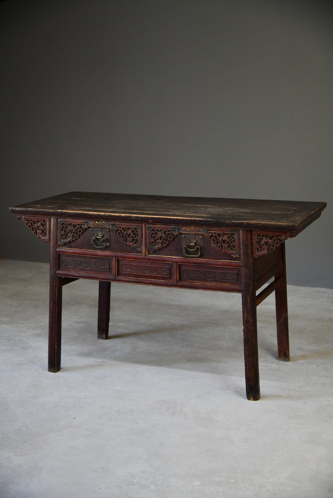 Antique Chinese Alter Console Table - Kernow Furniture