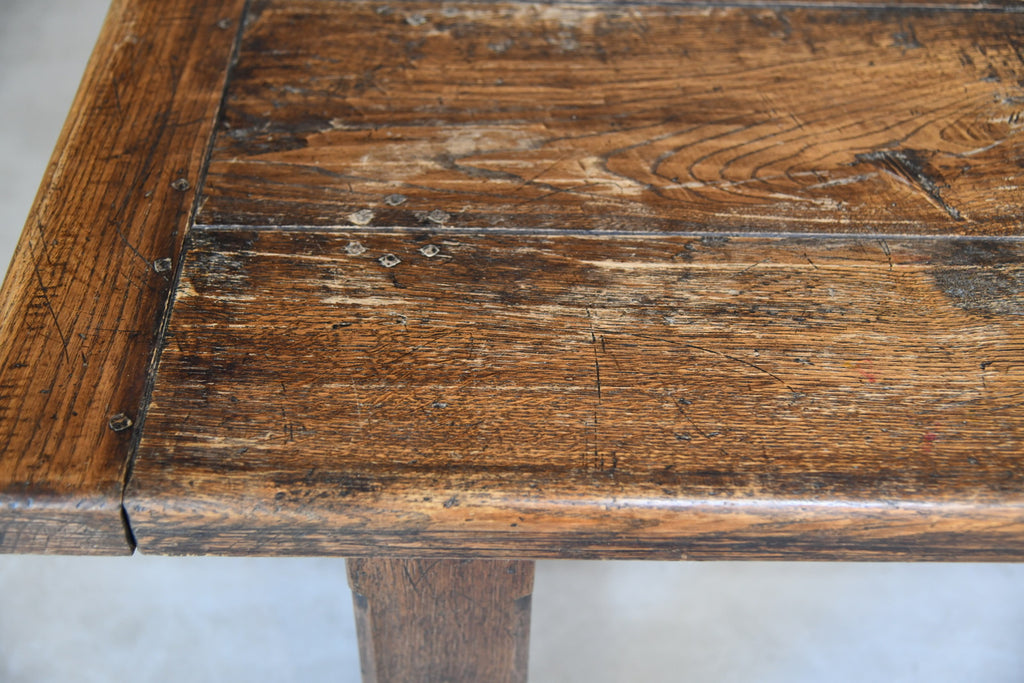 Large 8ft Rustic Chunky Farmhouse Pub Oak Kitchen Dining Table - Kernow Furniture