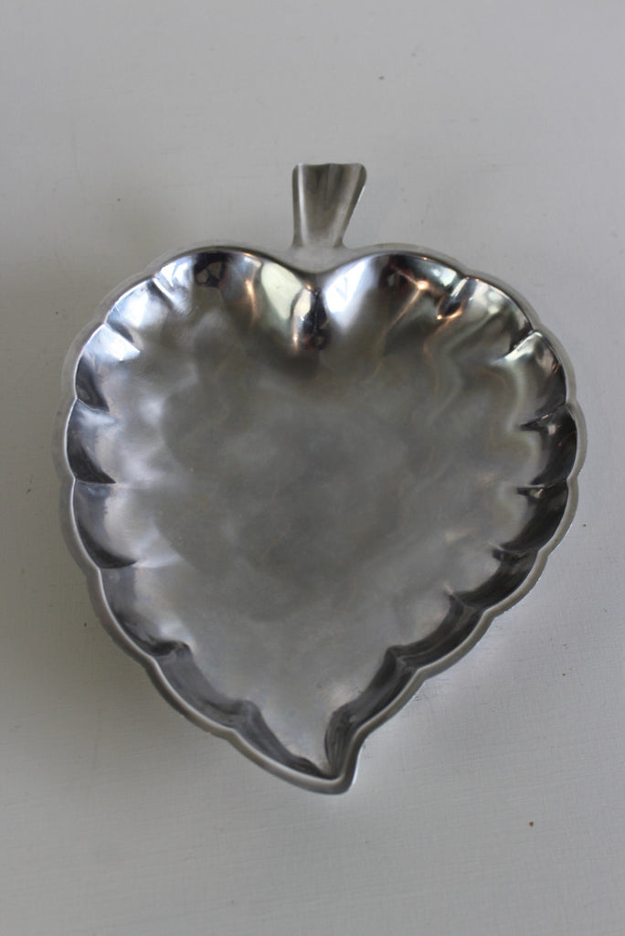 Vintage Stainless Leaf Dish - Kernow Furniture