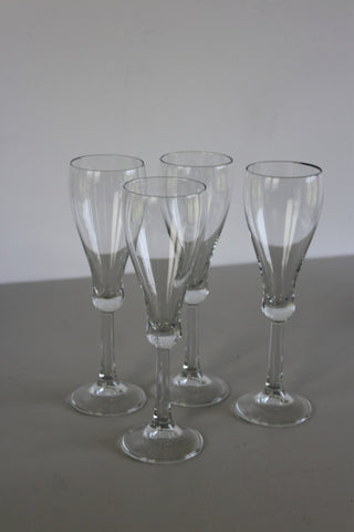 4 Champagne Glasses - Kernow Furniture