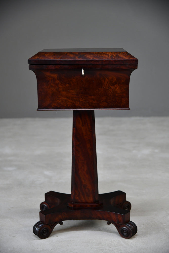 Victorian Mahogany Tea Poy - Kernow Furniture