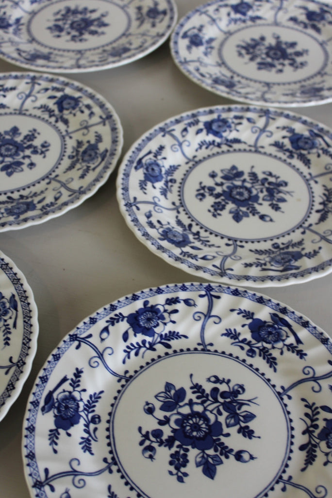 6 Johnson Bros Indies Dinner Plates - Kernow Furniture