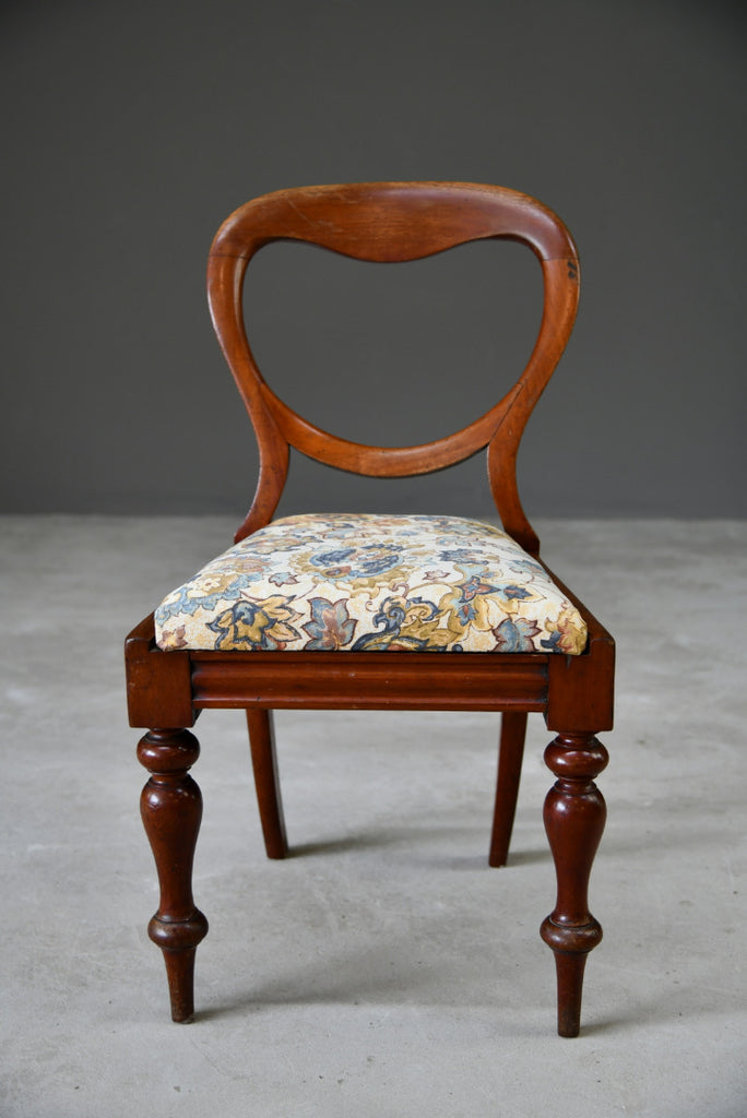 Single Mahogany Balloon Back Dining Chair - Kernow Furniture