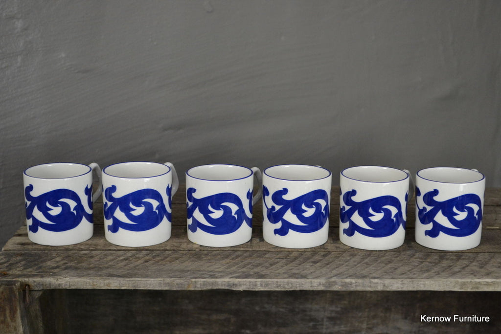 6 Royal Cauldon Coffee Cups - Kernow Furniture 100s vintage, retro & antique items in stock