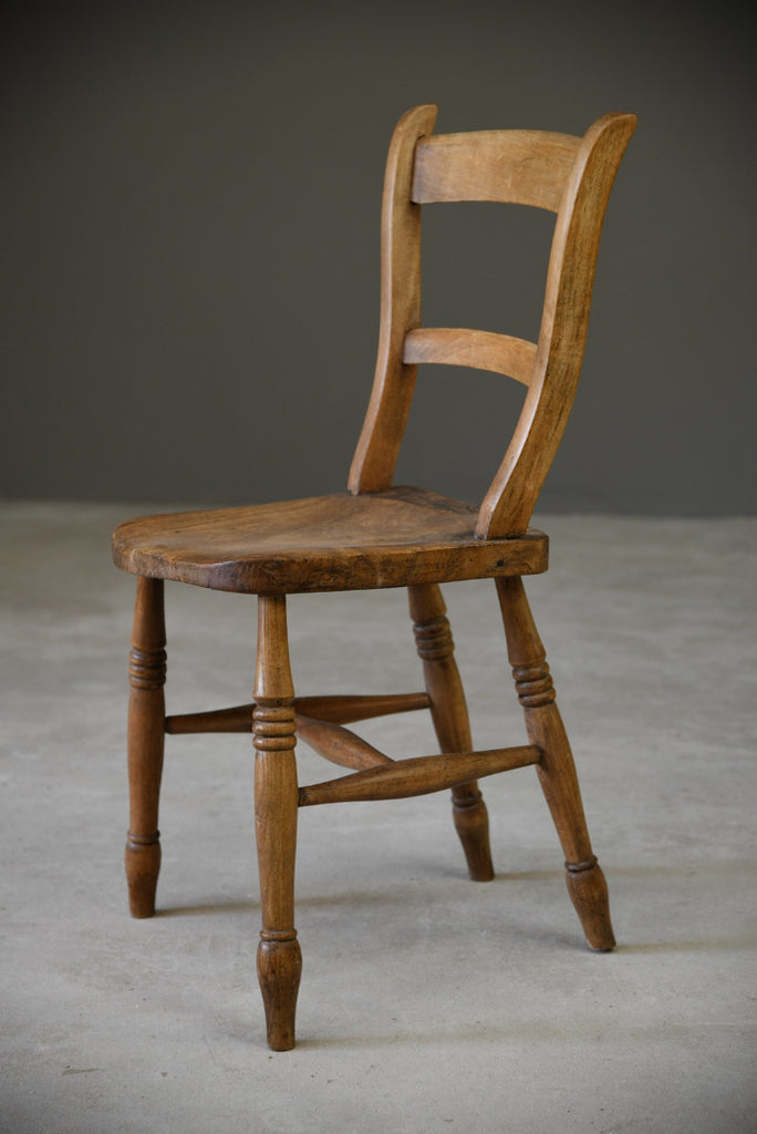 Rustic Elm Kitchen Chair - Kernow Furniture