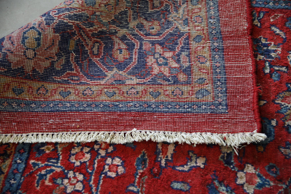 Large Persian Kashan Wool Rug - Kernow Furniture