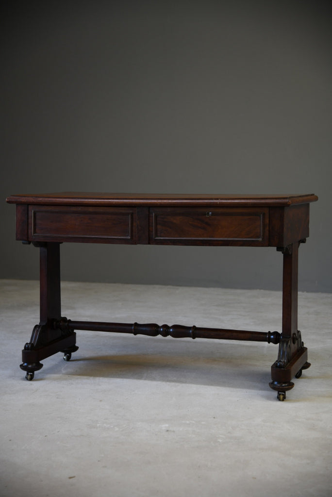 Victorian Mahogany Two Drawer Side Table - Kernow Furniture