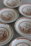 6 Furnivals Quail 1913 Tea Saucers - Kernow Furniture