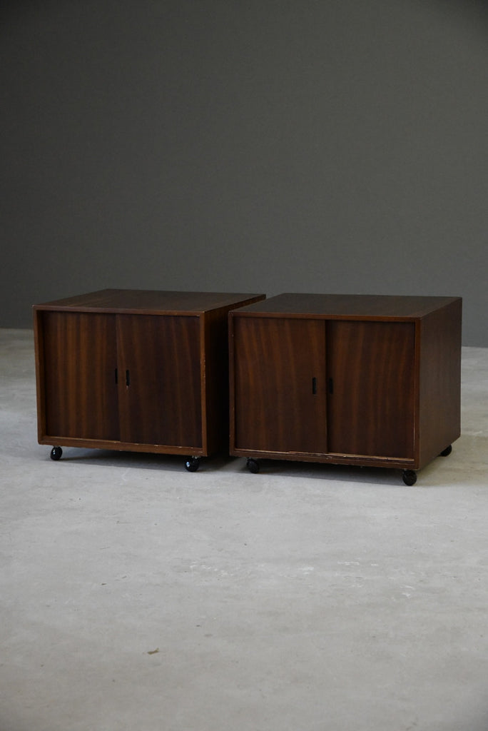 Pair Retro Bedside Cabinets - Kernow Furniture